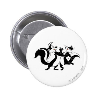 Pepe Le Pew and Penelope 3 Pinback Button