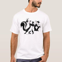 Pepe Le Pew and Penelope 3 T-Shirt