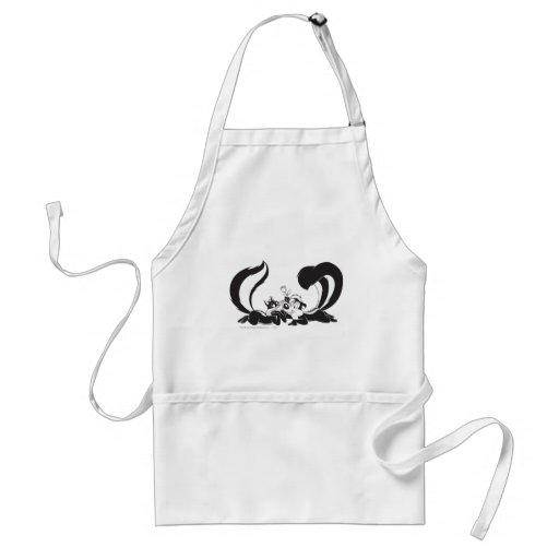 Pepe Le Pew and Penelope 4 Aprons