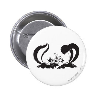 Pepe Le Pew and Penelope 4 Button