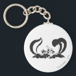 "Pepe Le Pew and Penelope 4 Keychain<br><div class=""desc"">Pepe le Pew and Penelope in adoration</div>"