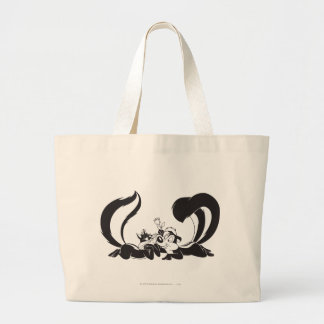 Pepe Le Pew and Penelope 4 Large Tote Bag