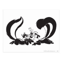Pepe Le Pew and Penelope 4 Postcard