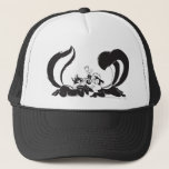 """Pepe Le Pew and Penelope 4 Trucker Hat<br><div class=""""desc"""">Pepe le Pew and Penelope in adoration</div>"""