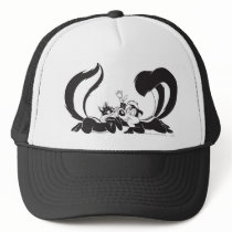 Pepe Le Pew and Penelope 4 Trucker Hat