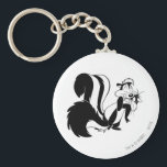 "Pepe Le Pew and Penelope Keychain<br><div class=""desc"">Pepe le Pew hugging Penelope</div>"