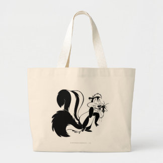 Pepe Le Pew and Penelope Large Tote Bag