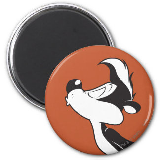 Pepe Le Pew Kissing 2 Inch Round Magnet