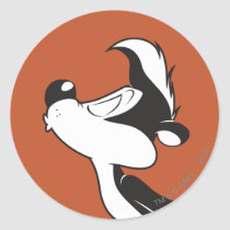 Pepe Le Pew Kissing Classic Round Sticker