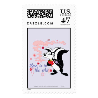 Pepe Le Pew Love is in the Air Postage Stamp