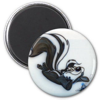 Pepe Le Pew Smug 2 Inch Round Magnet