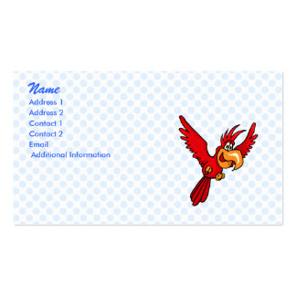 Pepe Parrot Double-Sided Standard Business Cards (Pack Of 100)