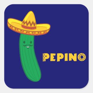 Pepino Square Sticker