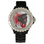 Pepita, APARN SpokesPug, reloj del diamante