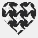 Pepita blanco y negro colcomanias corazon