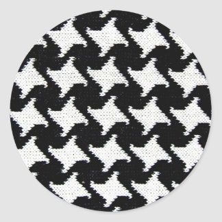 Pepita blanco y negro pegatina redonda