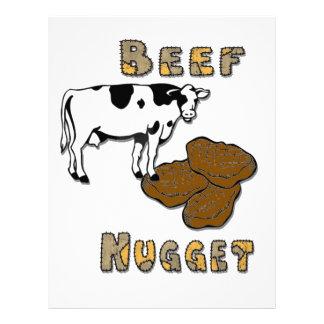 Pepita de la carne de vaca plantillas de membrete