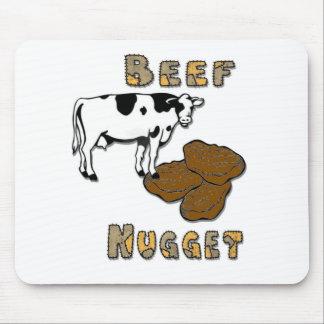 Pepita de la carne de vaca tapetes de raton