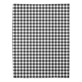 Pepita Squares pattern black & white + your ideas Duvet Cover