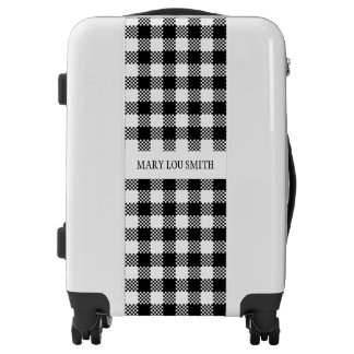Pepita Squares pattern black & white + your ideas Luggage