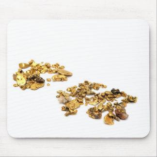 Pepitas de oro en blanco alfombrillas de ratón