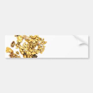 Pepitas de oro en blanco pegatina para auto