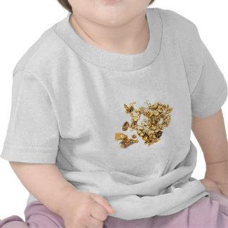 Pepitas de oro en blanco camiseta