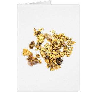 Pepitas de oro en blanco tarjeta de felicitación