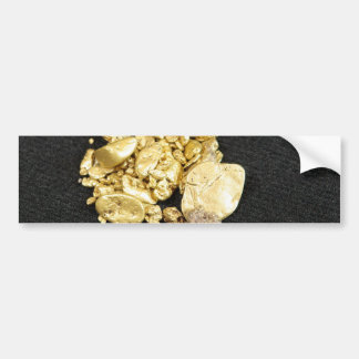 Pepitas de oro pegatina para auto