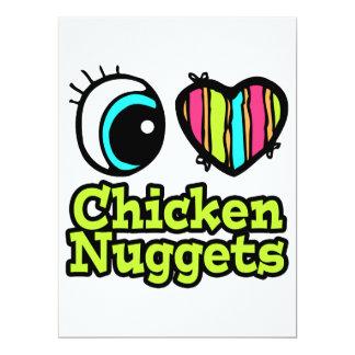 Pepitas de pollo brillantes del amor del corazón I Comunicado Personal
