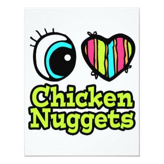 Pepitas de pollo brillantes del amor del corazón I Anuncios