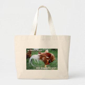 Pepitas de pollo - gallo bolsas de mano