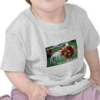 Pepitas de pollo - gallo camisetas
