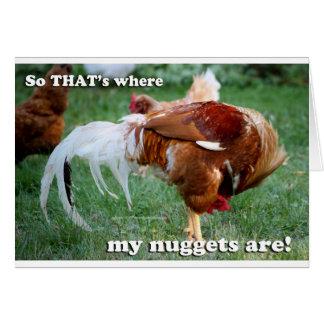 Pepitas de pollo - gallo tarjeta de felicitación