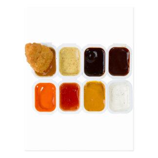pepitas de pollo tarjeta postal