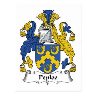 Peploe Family Crest Postcard