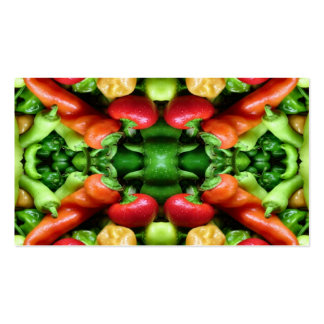Pepper as Art - Spicy Abstract Business Card