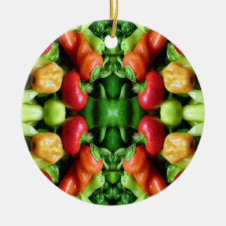 Pepper as Art - Spicy Abstract Ceramic Ornament