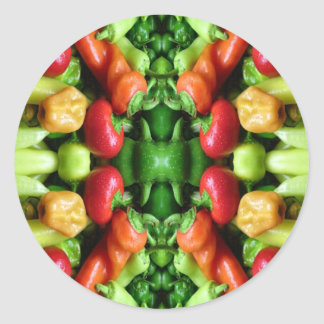 Pepper as Art - Spicy Abstract Classic Round Sticker