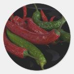 pepper_black caliente etiqueta redonda