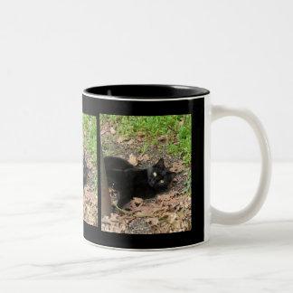 Pepper Cat Katrina Survivor Two-Tone Coffee Mug