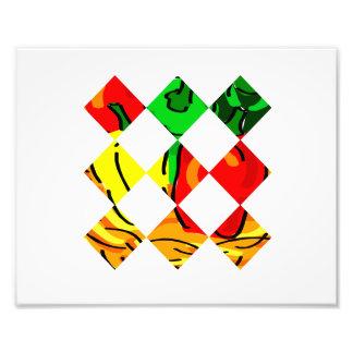 Pepper graphic colorful diamond tile photo