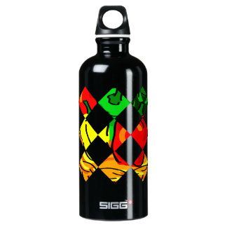 Pepper graphic colorful diamond tile water bottle