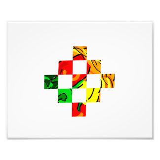 pepper graphic colorful square tiles photo