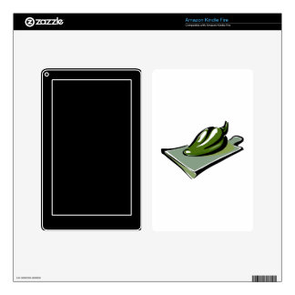 Pepper green on cutting board graphic.png skins for kindle fire