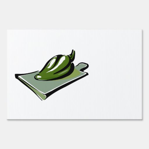 Pepper green on cutting board graphic.png yard signs