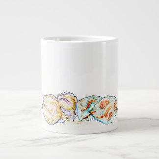pepper group artsy outline hot pepper food design jumbo mug
