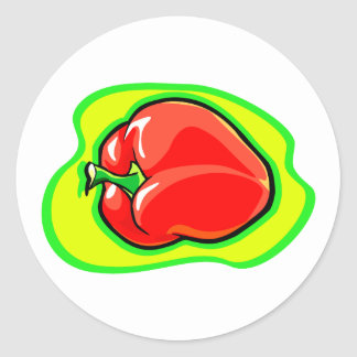 Pepper habanero on bright yellow green.png classic round sticker