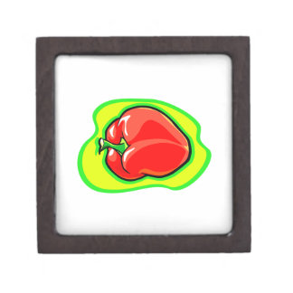 Pepper habanero on bright yellow green.png keepsake box