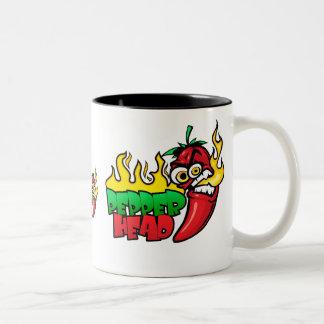 Pepper Head $18.95 Two Toned Coffee Mug
